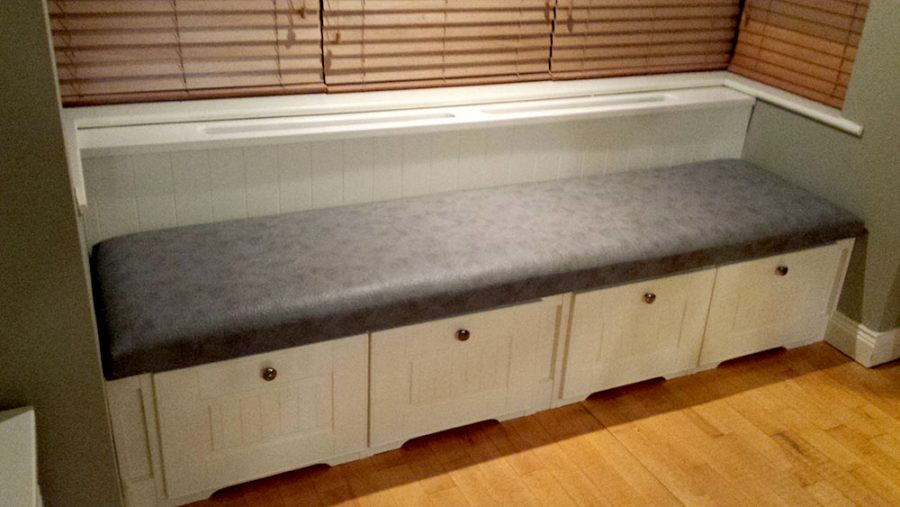 Bay Window Seat with Deep Drawer Storage