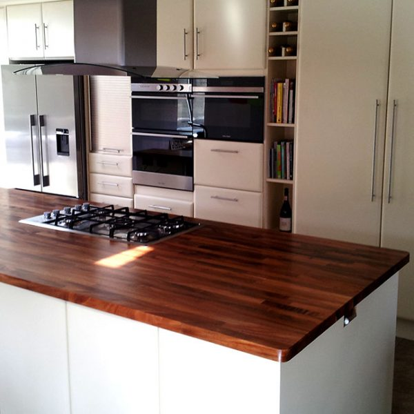 Ivory Kitchen with Solid Walnut Worktop