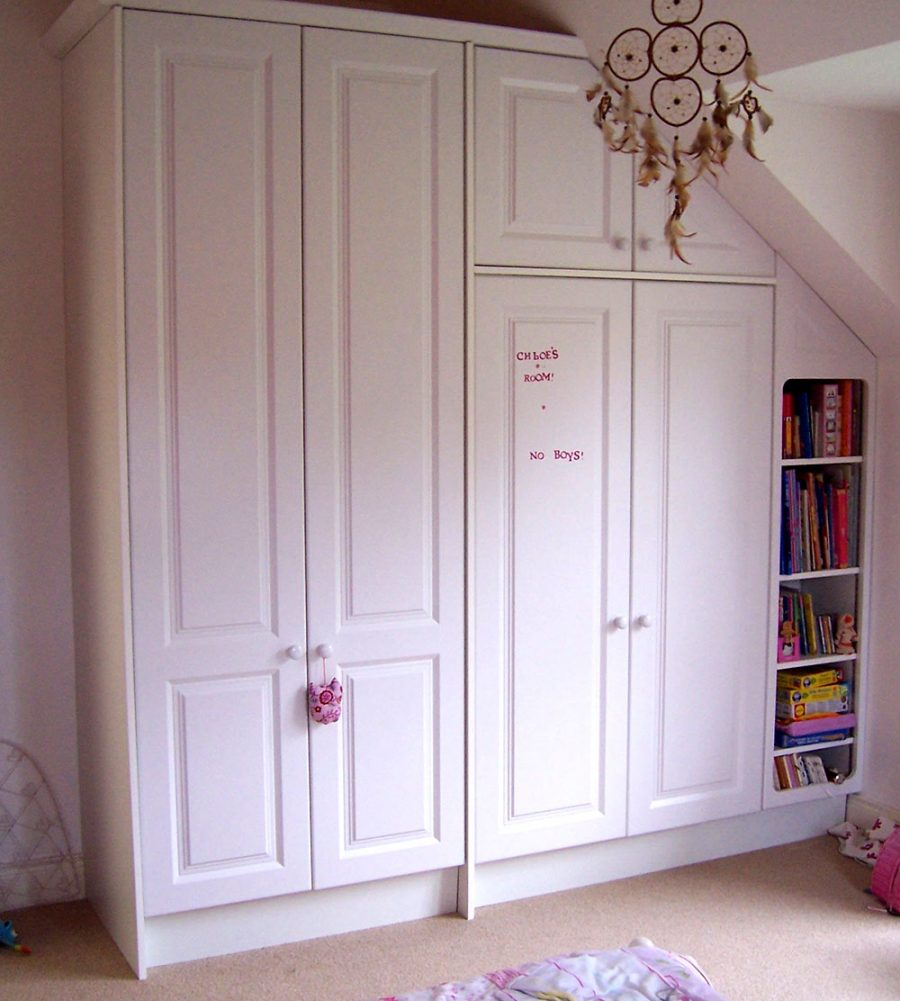 Kid's Ivory Fitted Wardrobe