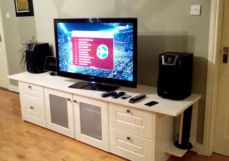 Painted tv storage unit